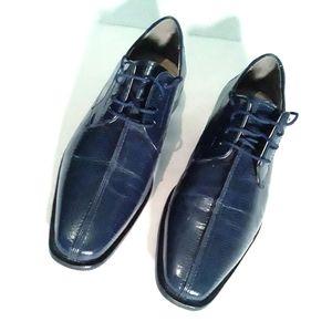 Giorgio Brutini Dark Blue Dress Shoes